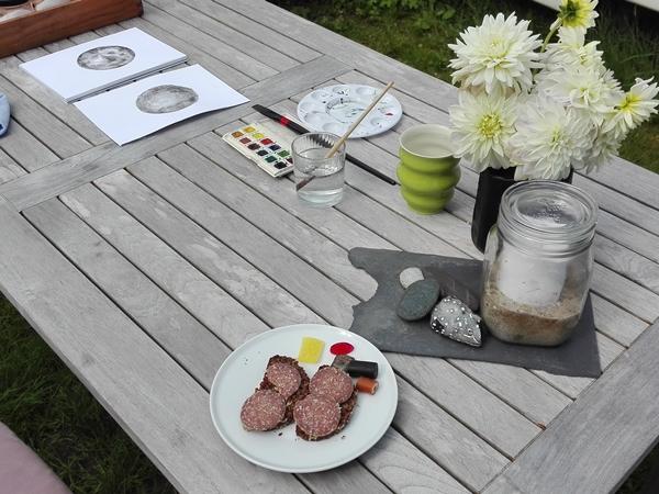 akvarel udendørs
