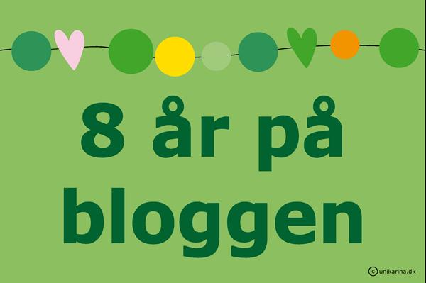8 år på bloggen